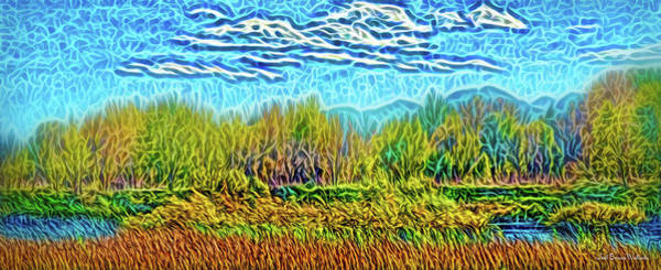 Digital Art - Mountain River Vista by Joel Bruce Wallach