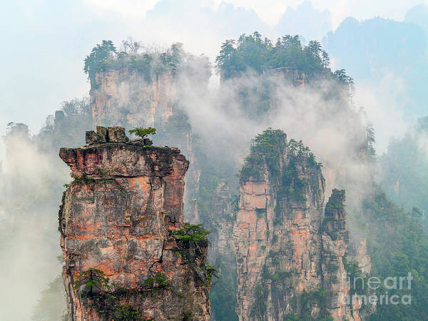 Wall Art - Photograph - Mountain Rocks In Sea Of Clouds by PuiYuen Ng