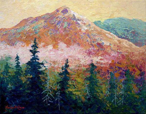 Aspen Tree Wall Art - Painting - Mountain Sentinel by Marion Rose
