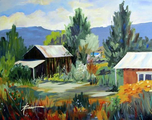 Painting - Mountain Settlement In New Mexico  by Adele Bower
