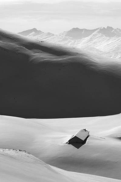 Photograph - Mountain Shadow In The French Alps by Pierre Leclerc Photography