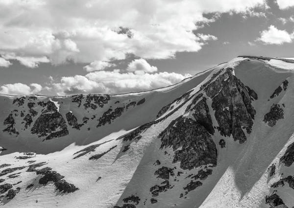 Photograph - Mountain Shadows Black And White by Dan Sproul