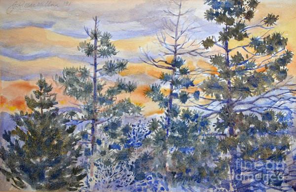 Flagstaff Painting - Mountain Shadows Sunset by James Robert MacMillan