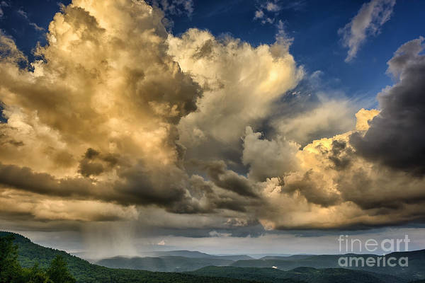 Highland Scenic Highway Wall Art - Photograph - Mountain Shower Evening Clouds by Thomas R Fletcher