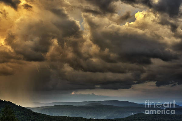 Allegheny Mountains Wall Art - Photograph - Mountain Shower by Thomas R Fletcher