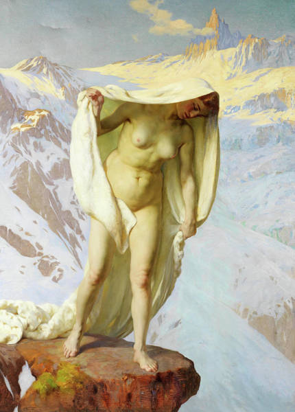 Blanket Painting - Mountain Spirit by Cesare Viazzi