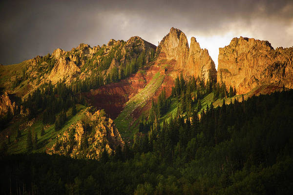 Photograph - Mountain Storm Light by John De Bord