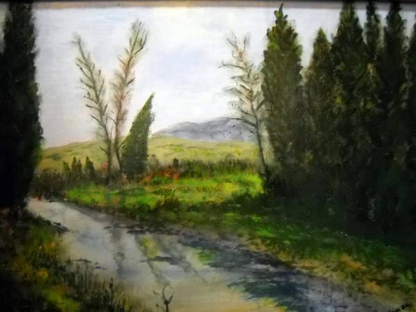 Wall Art - Painting - Mountain Stream by Michael L Brown