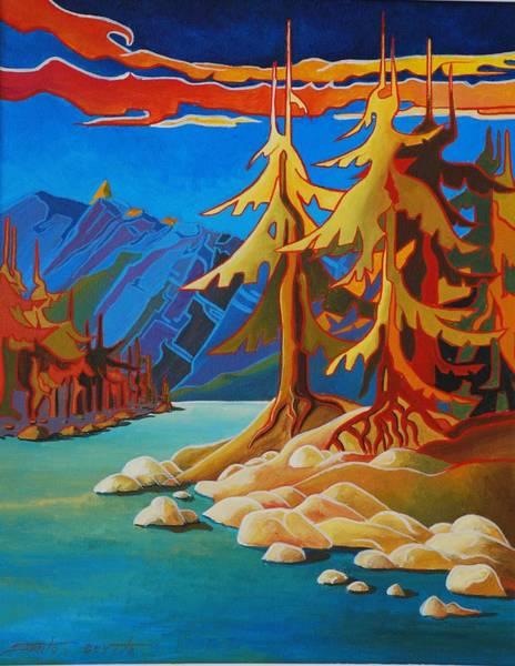 Mountain Stream Art Print by Santo De Vita