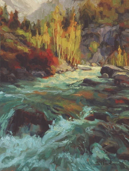 Wall Art - Painting - Mountain Stream by Steve Henderson