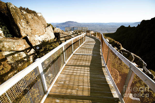 Pathway Photograph - Mountain Summit Lookout by Jorgo Photography - Wall Art Gallery
