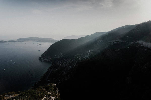 Photograph - Mountain Sun Rays In Cote D'azur, France by Alexandre Rotenberg
