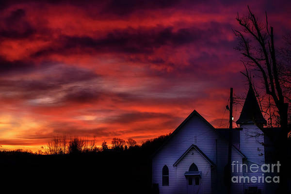 Photograph - Mountain Sunrise And Church by Thomas R Fletcher