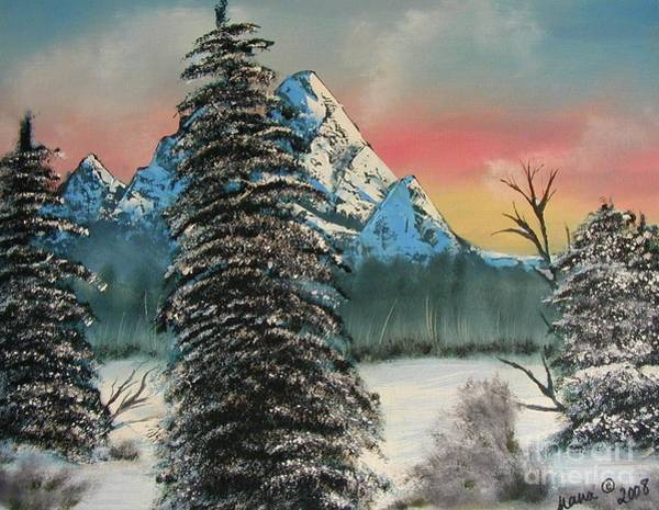 Painting - Mountain Sunset by Marianne NANA Betts
