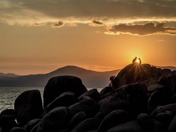 Photograph - Mountain Sunset Romance by Martin Gollery