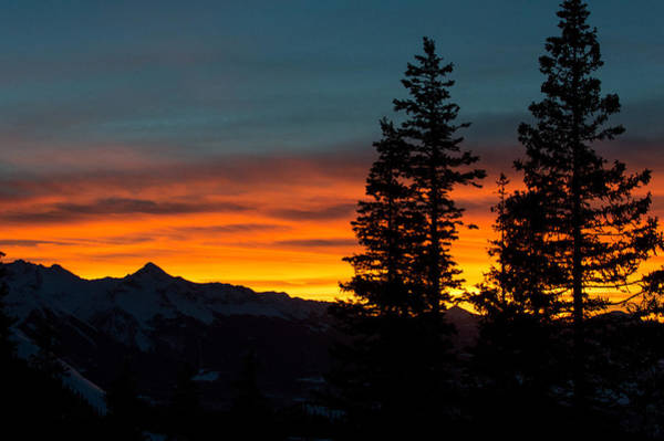 Photograph - Mountain Sunset by Stephen Holst