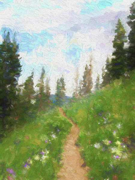 Spring Mountains Digital Art - Mountain Trail by David King