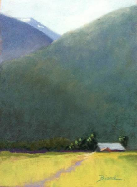 Painting - Mountain Valley Farm by Janet Biondi