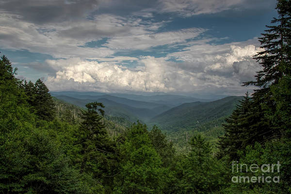 Photograph - Mountain View From Clingmans Dome by Barbara Bowen