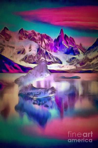 Painting - Mountainous Reflection Wet In Ambiance by Catherine Lott