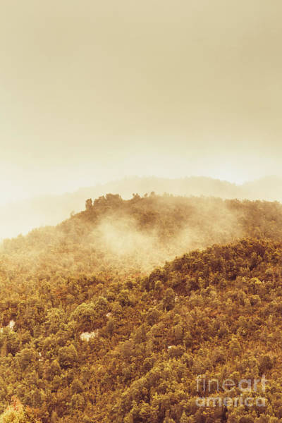 Natural Photograph - Mountainous Tasmanian Mist by Jorgo Photography - Wall Art Gallery