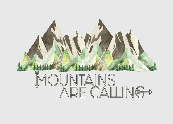 Digital Art - Mountains Are Calling by Heather Applegate