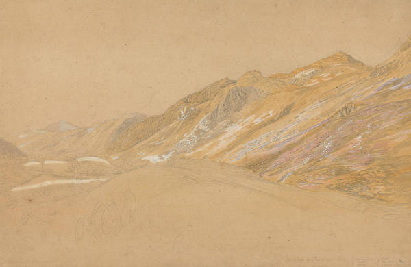 Painting - Mountains By The Traveller's Rest Near Dolgelly by Samuel Palmer
