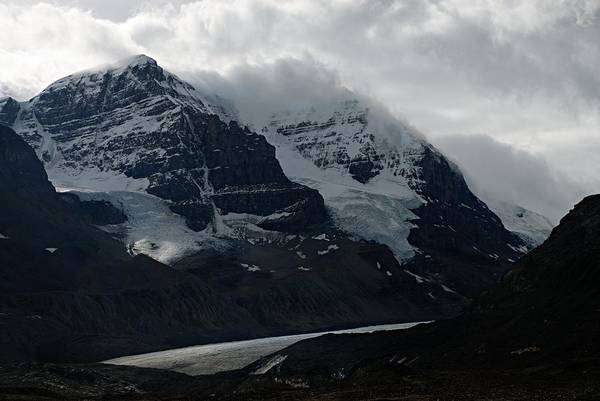 Wall Art - Photograph - Mountains Clouds And Glaciers by Larry Ricker