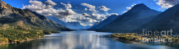 Photograph - Mountains Clouds And Reflections by Adam Jewell