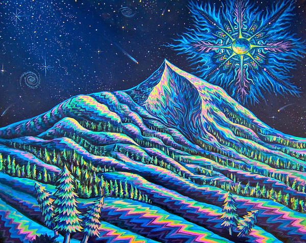 Weeds Painting - Mountains I Have Known And Loved by Jim Figora