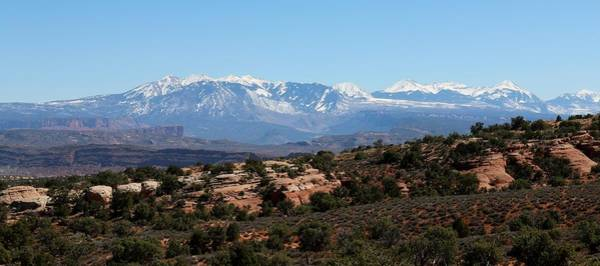 Photograph - Mountains In Moab - 4 by Christy Pooschke