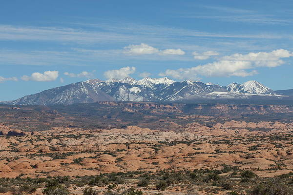 Photograph - Mountains In Moab by Christy Pooschke