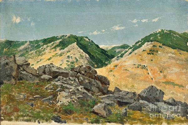Painting - Mountains In The Abruzzi by Celestial Images