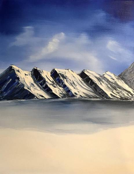 Wall Art - Painting - Mountains In The Arctic by Willy Proctor
