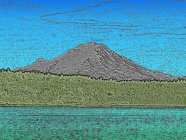 Mounted Digital Art - Mountains Majesty by Tim Allen