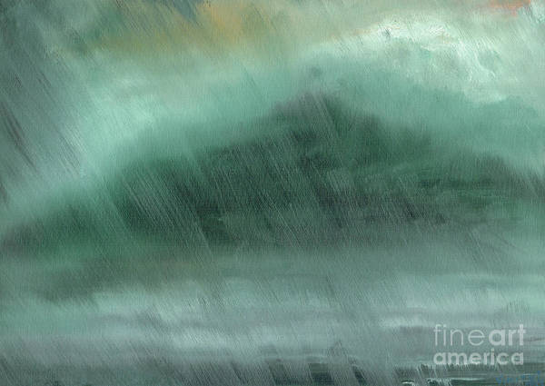 Wall Art - Painting - Mountains  Rain by Vincent Alexander Booth