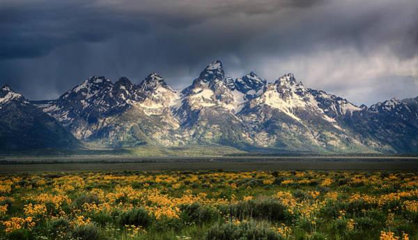 Teton National Park Digital Art - Mountainscape by Claudia Daniels