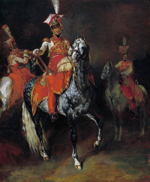 Painting -  Mounted Trumpeters Of Napoleon's Imperial Guard by Theodore Gericault