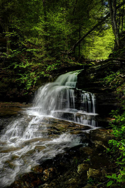 Photograph - Mountian Falls - 2979 by Paul W Faust - Impressions of Light