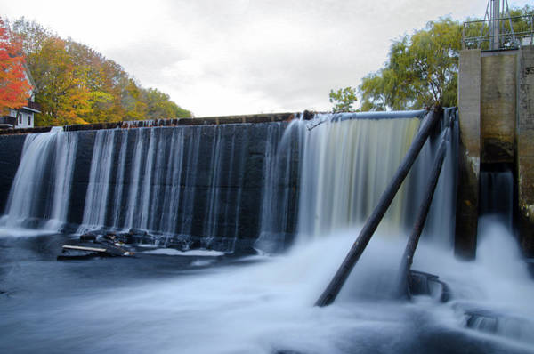 Photograph - Mousam River Dam Kennebunk Maine by Bill Cannon