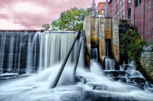 Wall Art - Photograph - Mousam River Waterfall In Kennebunk Maine by Bill Cannon