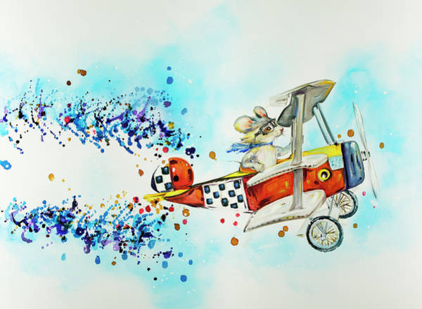 Wall Art - Painting - Mouse Has An Adventure by Kim Guthrie