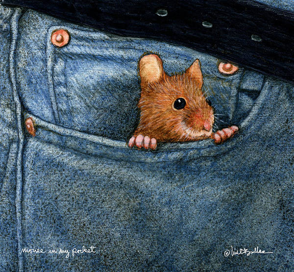 Mouse Painting - Mouse In My Pocket... by Will Bullas