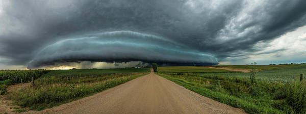 Shelf Cloud Photograph - Mouth Of The Beast  by Aaron Groen