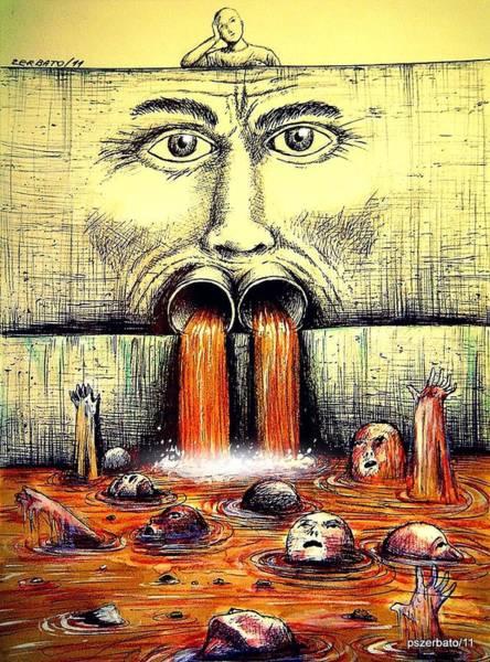 Spoken For Digital Art - Mouth Speaks What The Heart Is Full by Paulo Zerbato