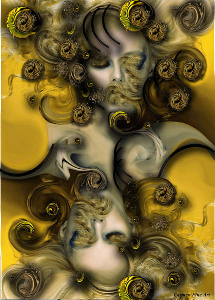 Digital Art - Movement With Venus by Carmen Fine Art
