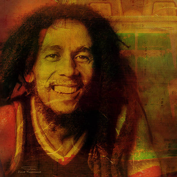 The Wailers Painting - Movie Icons - Bob Marley I by Joost Hogervorst