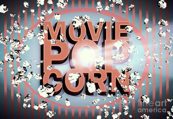 Wall Art - Digital Art - Movie Pop Corn by Jorgo Photography - Wall Art Gallery
