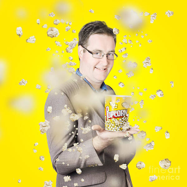 Wall Art - Photograph - Movies Man Watching Fall Of Cinema Popcorn by Jorgo Photography - Wall Art Gallery