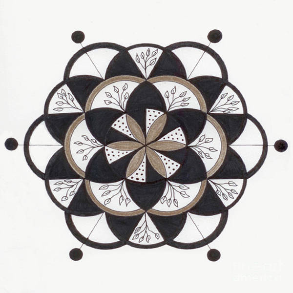 Wall Art - Drawing - Moving On Mandala by Nancy TeWinkel Lauren
